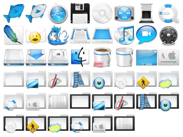 Super cute dustbunnies full set of mac icons png – Over