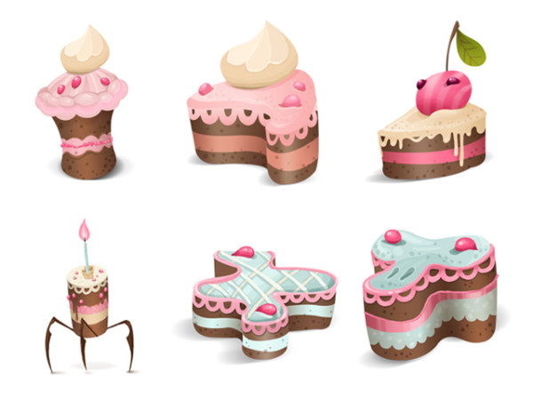 Lovely cake theme icon png