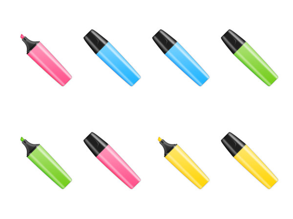 Link toMulti-color oil-based pen icon png