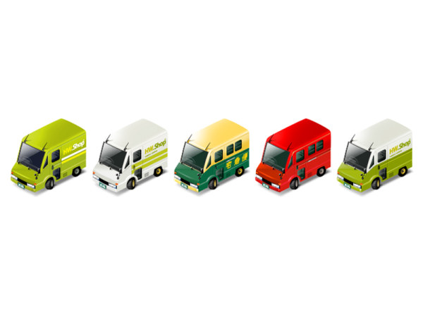 Express delivery trucks png icon