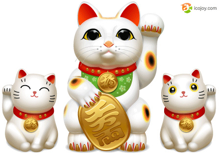 Lucky cat icons (png, icns, ico, gif)
