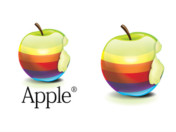 Crystal Rainbow Apple icon (png)