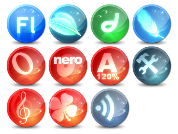Link toStyle bubble round the computer icon png