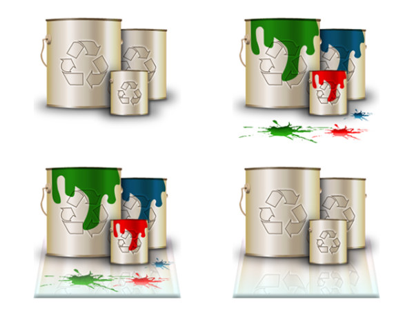 Modeling paint the trash icon png
