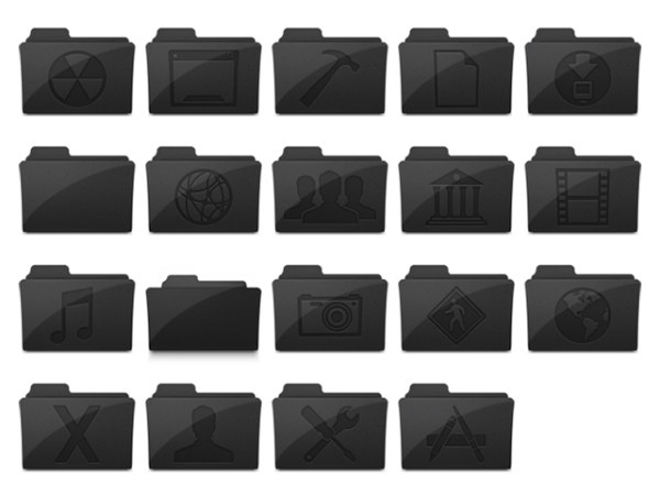 Link toDark gray folder icons png computer