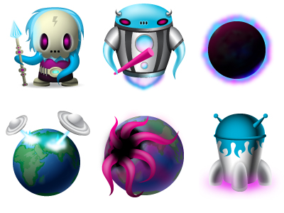 The trend of extraterrestrial element icon png