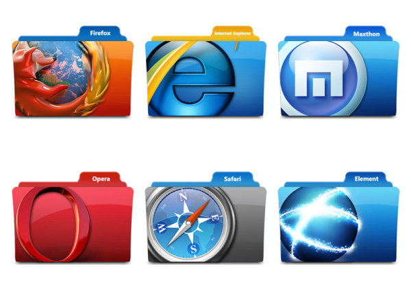 Popular web browser folder icon png