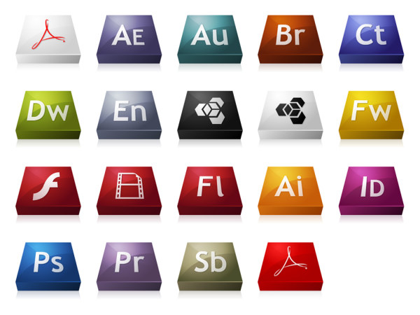 Adobe CS3 series of three-dimensional icon png