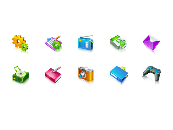 Three-dimensional decorative phone icon png