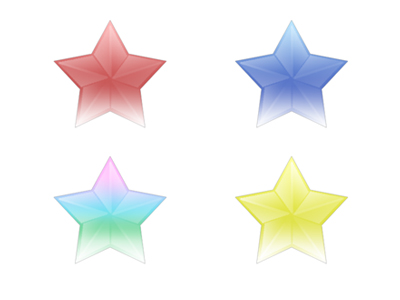 Link toSeries of three-dimensional star icon transparent png