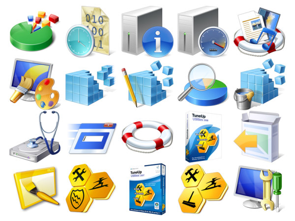 Beautiful vista style icons png