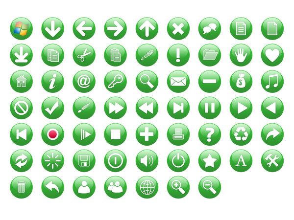 Link toGreen crystal commonly used circular icon transparent png