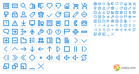 Pixels web design commonly used small icon (png, gif)