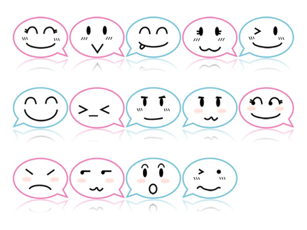 Link toExpression of the theme of the computer chat cute icon trans