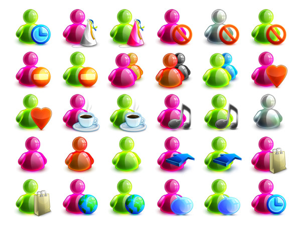 Link toA variety of colorful msn status icon transparent png