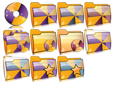 Apple style folder icon png
