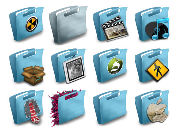 Portable blue transparent folder icon png