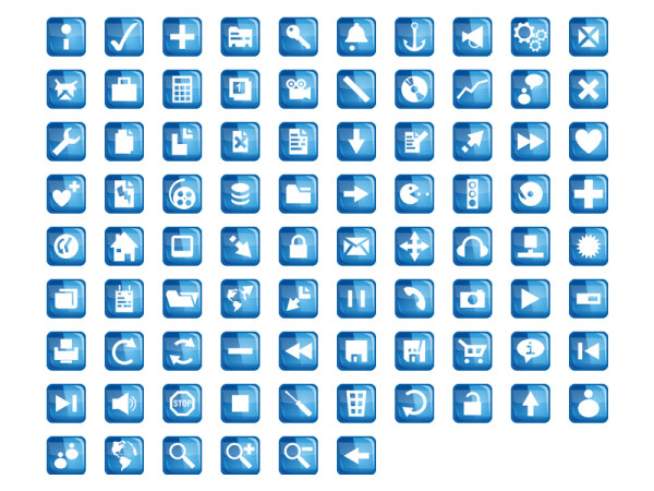 Link toBlue crystal web design common icon png