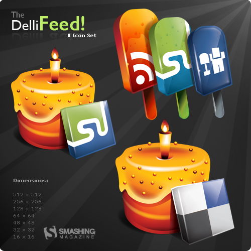 Theme cake and popsicles feed png icon