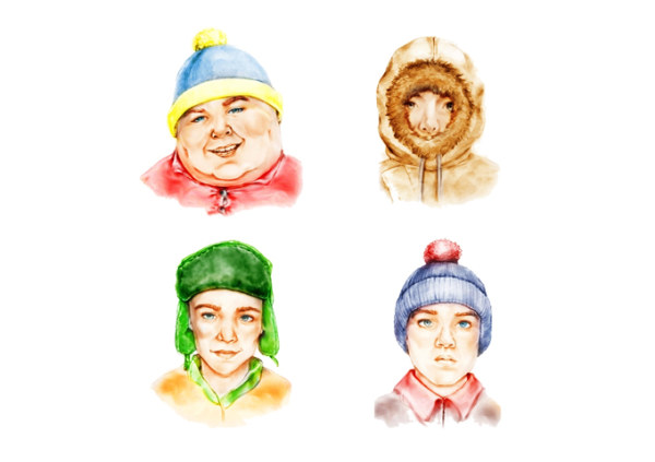(South Park) live version of hand-painted icon png