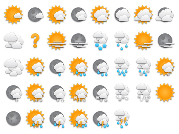 Link toSticker style weather icon png
