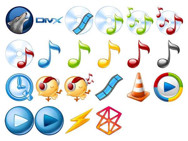 Audio and video player icon