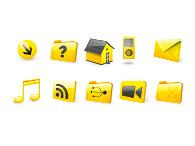Link toYellow web page design commonly used small icon png