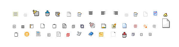 Link toA variety of small icons gif text material