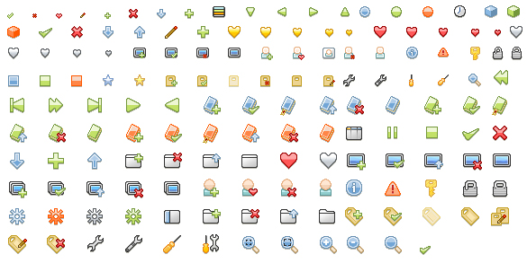 A variety of fine material small icons gif