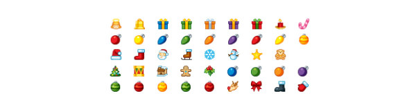 Link toChristmas theme of small icons transparent gif