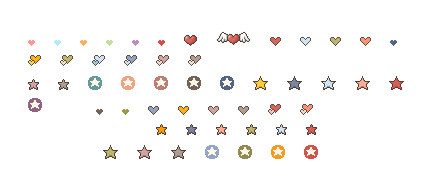 Link toLove to star-shaped and small icons gif