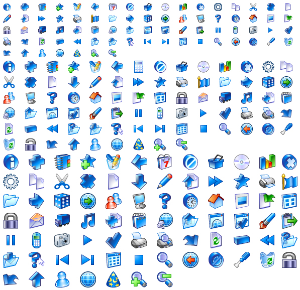 Blue Series gif System icon (multi-size)
