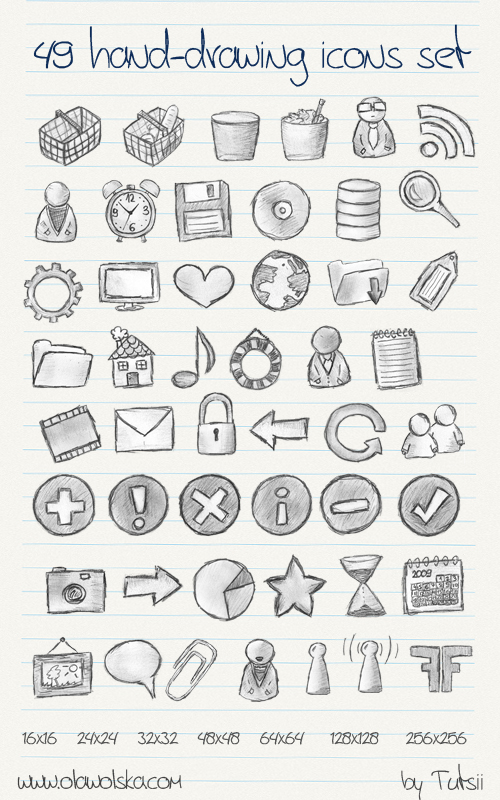 Png icon in the system hand-drawn style