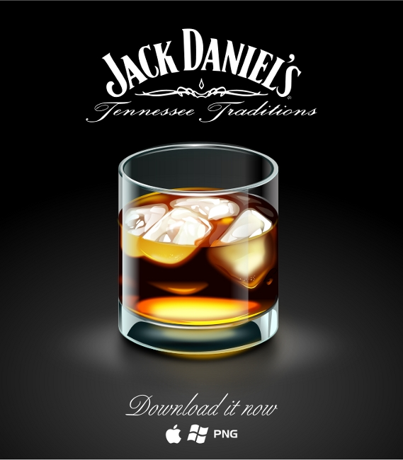 Link toA glass of jack daniel icon