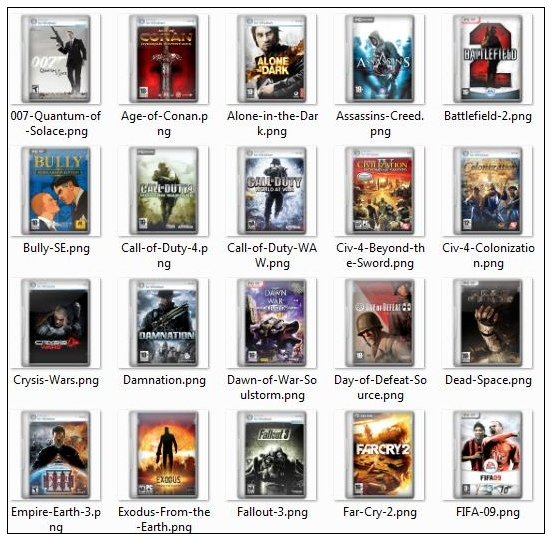 Link to50 computer games and movies cover png icons -1