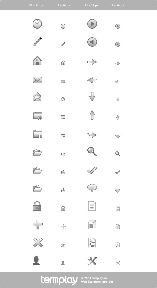 Common Gray Web Design Icon