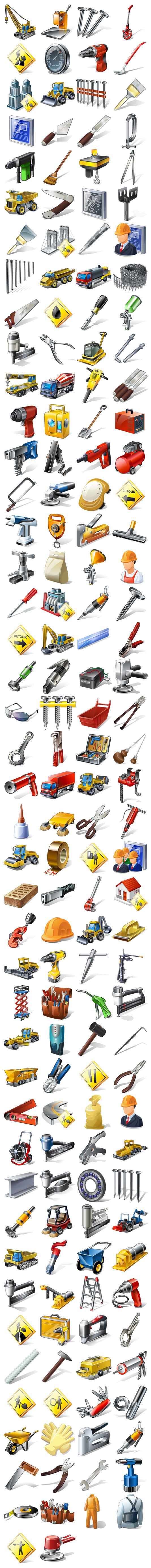 Link toEngineering equipment, tools, people and goods series icon