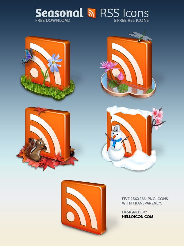 Link toCrystal frees icon four seasons rss icon png