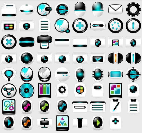 Link toBlue, high-tech computer material png icon