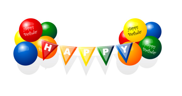 Happy Birthday Balloon Vector material. File Format:.ai