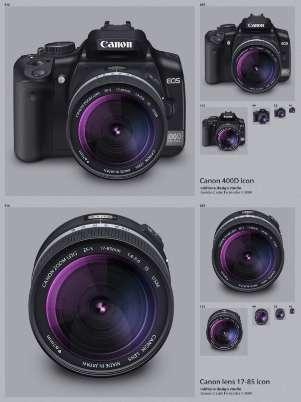 Canon 400D   Lens(PNG Icon)