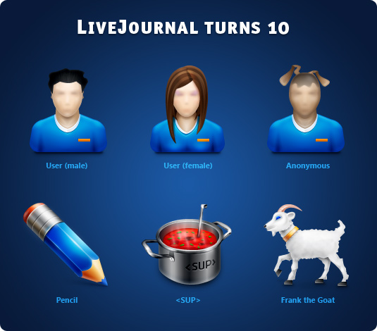 Link toLivejournal turns 10 png icon