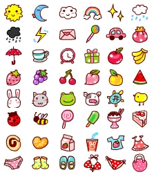 Link toVery cute cartoon graffiti small icons