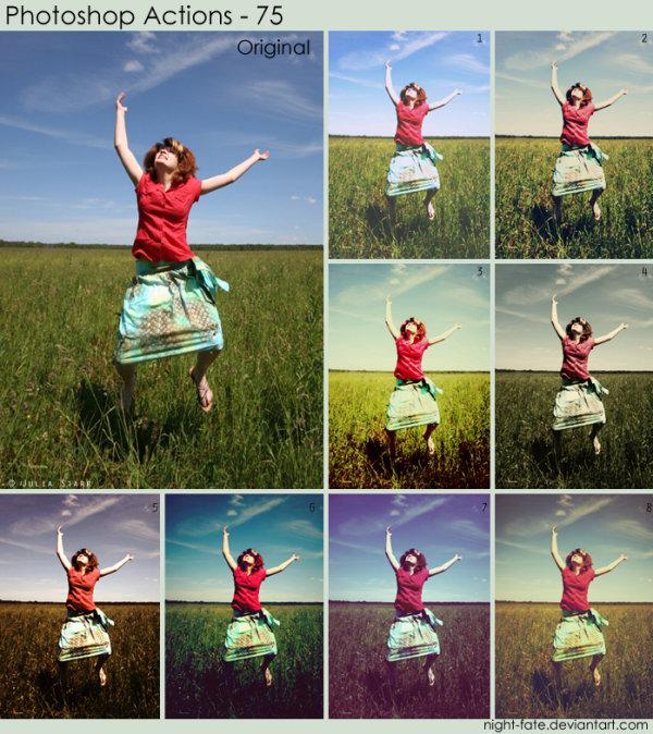 Beautiful portrait palette PS action (of seven)