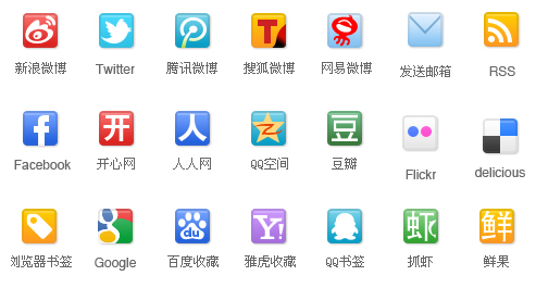 Link toChina's first set of commonly used web 2.0 resource kit down