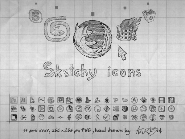 Link toPencil graffiti style web icons -2