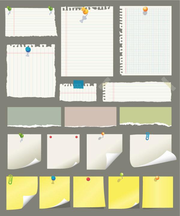 便利贴与草稿纸——矢量素材