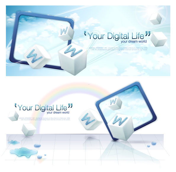 Your digital life vector material