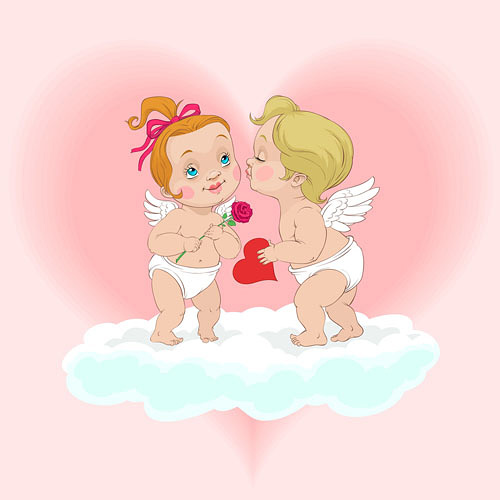 vector cute little angel download free vector 3d model icon