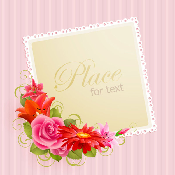 flower greeting cards   vectordownload free vector,d model, Greeting card